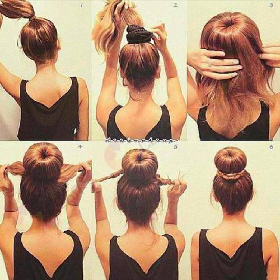 Прическа на длинные волосы своими руками фото пошагово