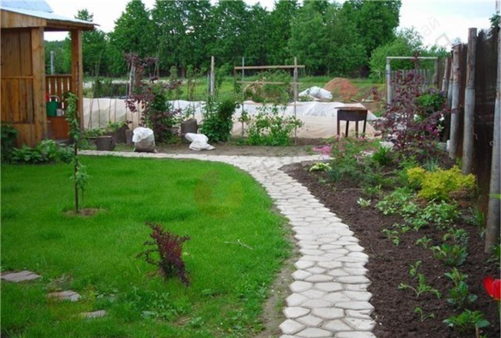 Из чего сделать формы для садовых дорожек своими руками